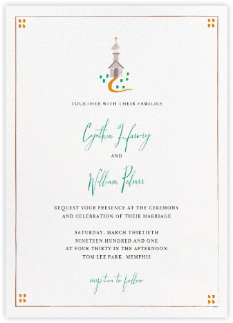 Mr. Juniper (Invitation) - Mr. Boddington's Studio - Wedding Invitations