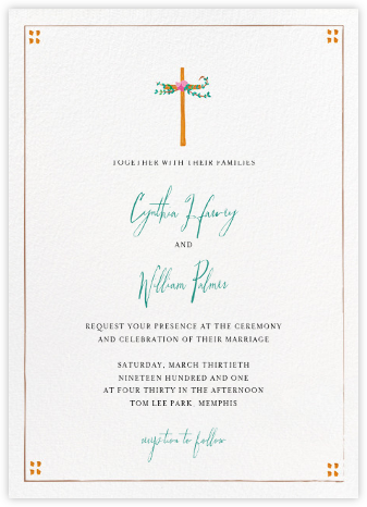 Miss Harrison (Invitation) - Mr. Boddington's Studio - Wedding Invitations