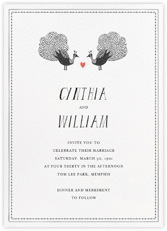 Mr. Waris (Invitation) - Mr. Boddington's Studio - Wedding Invitations