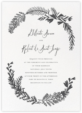 Miss Mimi Margeaux II (Invitation) - Slate - Mr. Boddington's Studio - Wedding Invitations