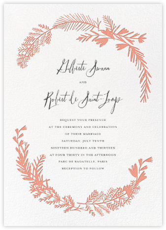 Miss Mimi Margeaux II (Invitation) - Coral | null