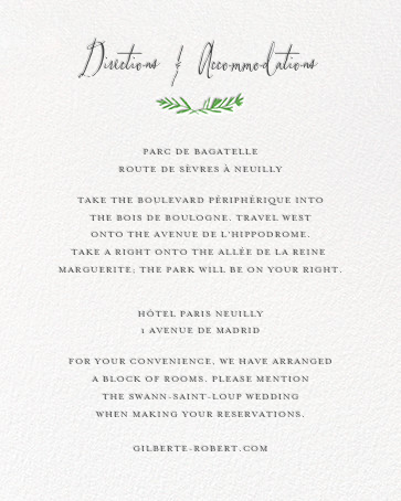 Miss Mimi Margeaux II (Invitation) - Green - Mr. Boddington's Studio - All - insert front