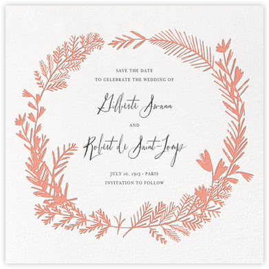 Miss Mimi Margeaux II (Save the Date) - Coral | null