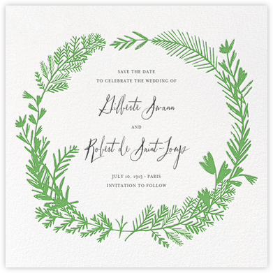 Miss Mimi Margeaux II (Save the Date) - Green | null