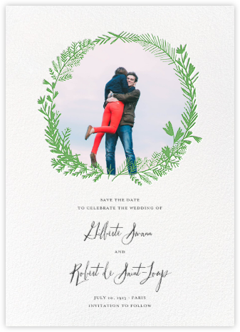 Miss Mimi Margeaux II (Photo Save the Date) - Green | null