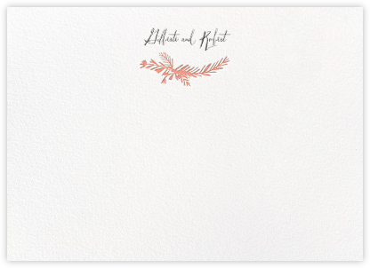Miss Mimi Margeaux II (Stationery) - Coral | null
