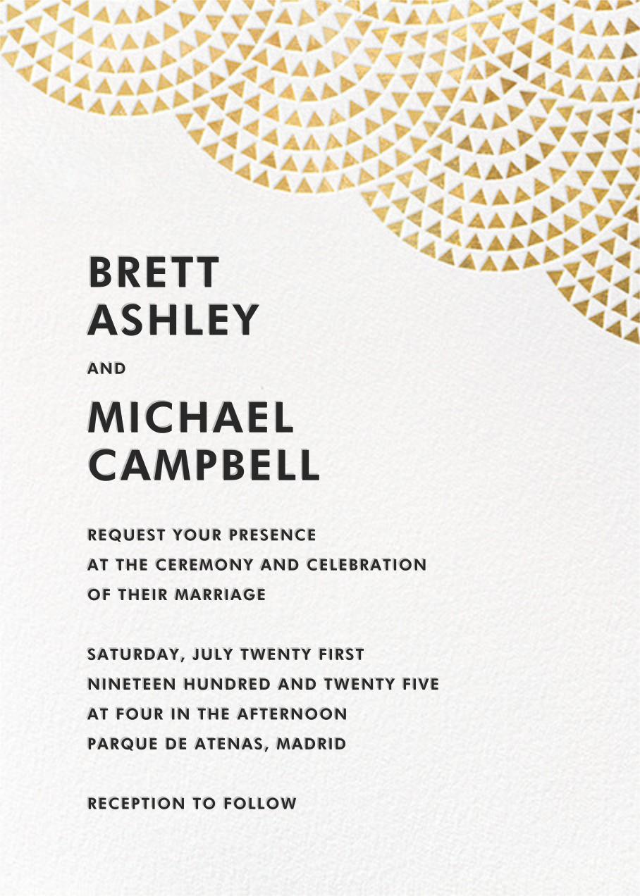Savoy (Invitation) - Gold - Paperless Post - Modern wedding invitations