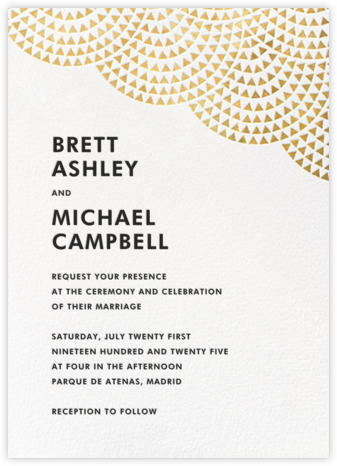 Savoy (Invitation) - Gold - Paperless Post - Modern wedding invitations