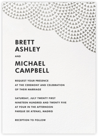 Savoy (Invitation) - Silver - Paperless Post - Wedding Invitations