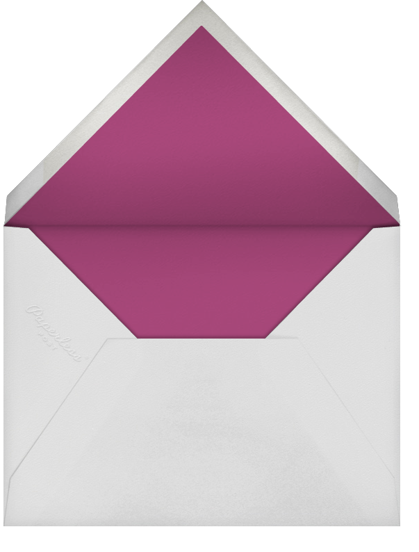 Falling Poppies II (Invitation) - Ivory/Raspberry - Oscar de la Renta - All - envelope back
