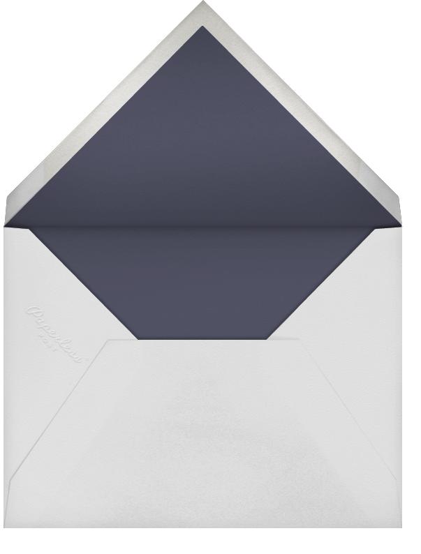 Falling Poppies II (Stationery) - Navy/Silver - Oscar de la Renta - Envelope