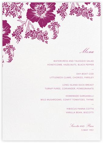 Falling Poppies II (Menu) - Ivory/Raspberry   null