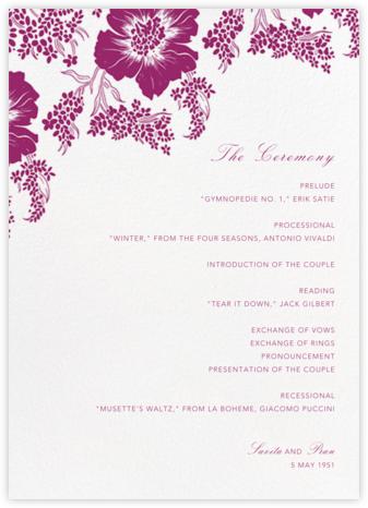 Falling Poppies II (Program) - Ivory/Raspberry - Oscar de la Renta -