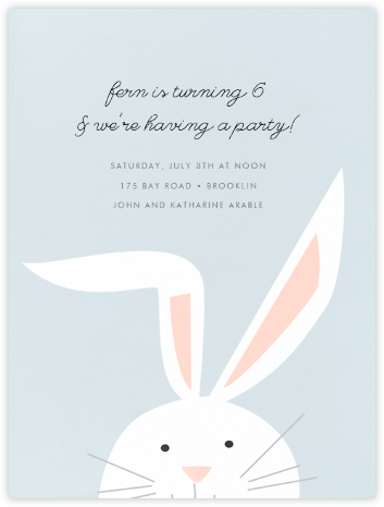 Bunny - Frost - Paperless Post - Kids' birthday invitations