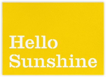 Hello Sunshine - kate spade new york - Just because cards