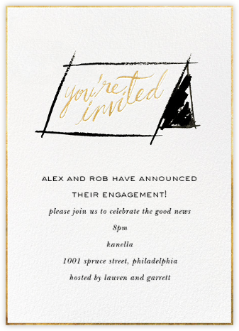 In Tent to Party - kate spade new york - Engagement party invitations
