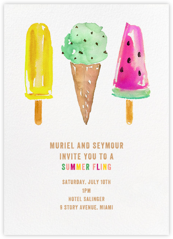 Ice Cream Party - kate spade new york - Summer Party Invitations