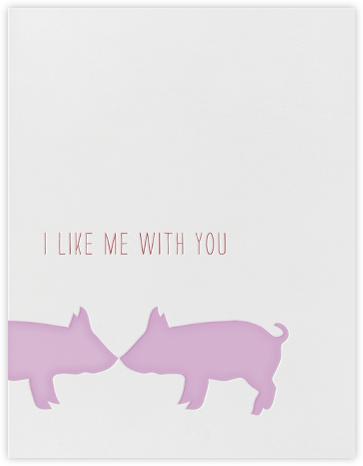 Kissing Pigs - Linda and Harriett - Anniversary cards