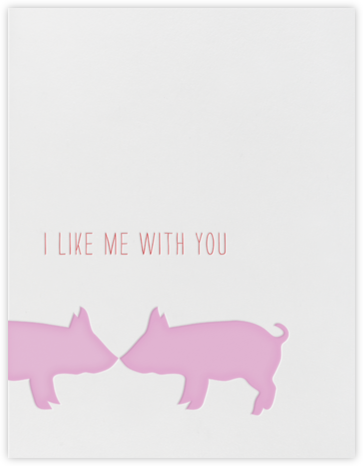 Kissing Pigs - Linda and Harriett - Notes and cards