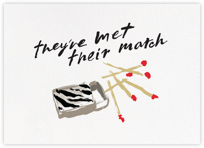 Met Their Match - kate spade new york - Engagement party invitations