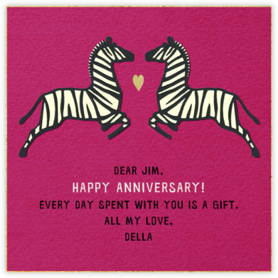 Zebra Love - Paperless Post - Anniversary Cards