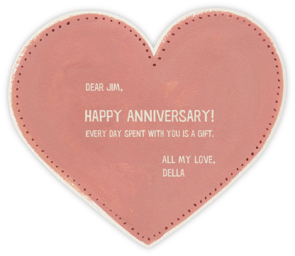 Je t'aime Heart  - Paperless Post - Anniversary Cards