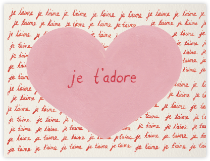 Je T'adore - Paperless Post - Anniversary Cards