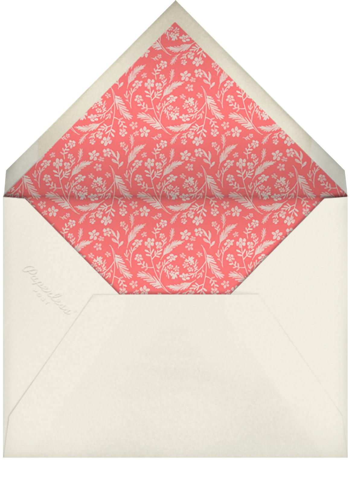 Chic Florette (Photo Invitation) - Crate & Barrel - All - envelope back