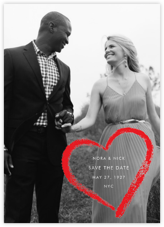 Lipstick Heart (Save the Date) - Paperless Post - Invitations