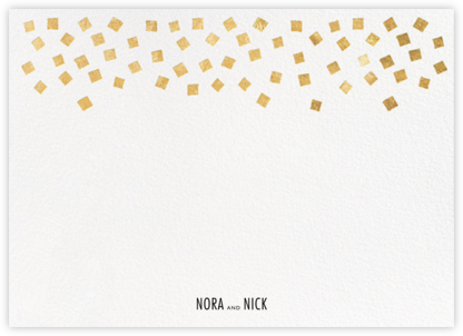 Fette (Stationery) - White/Gold - Kelly Wearstler - Personalized stationery