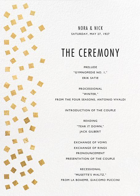 Fette (Program) - Gold/White - Kelly Wearstler - Kelly Wearstler wedding
