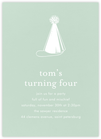 Mint (Tall) - Paperless Post - Birthday invitations