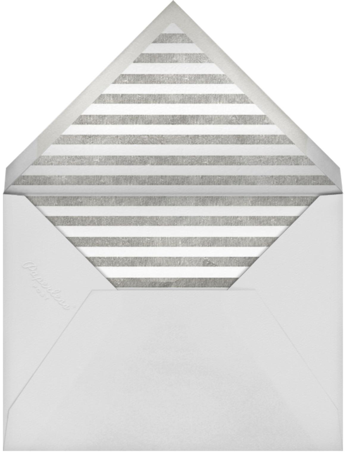 Classic Vintage - Silver/Black - kate spade new york - Engagement party - envelope back
