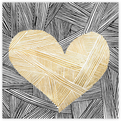Contour - Gold - Kelly Wearstler - Valentine's day cards