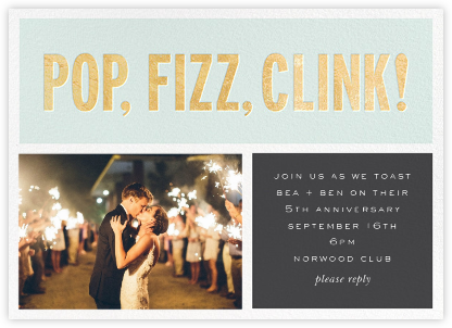 Pop Fizz Clink! (Horizontal Photo) - kate spade new york - Celebration invitations