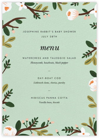 Floral Glade (Menu) - Rifle Paper Co. -