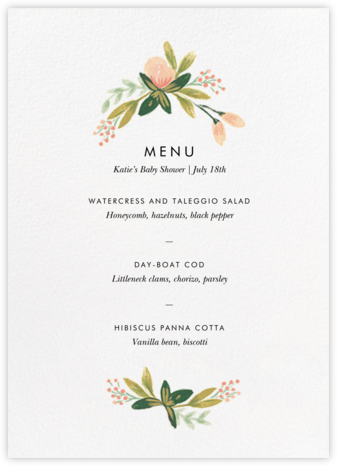 Peach Posies (Menu) - Rifle Paper Co. - Rifle Paper Co.