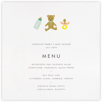 The Baby Basics (Menu) - Rifle Paper Co. - Rifle Paper Co.