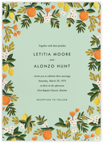 Citrus Orchard Suite (Invitation) - Mint - Rifle Paper Co. -