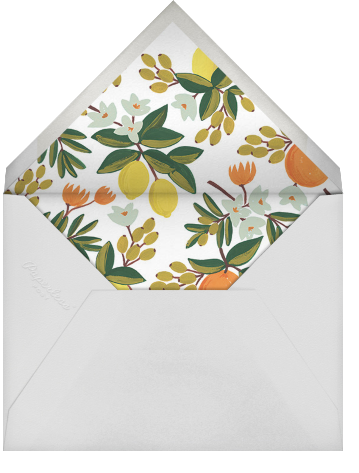 Citrus Orchard Suite (Save the Date) - Mint - Rifle Paper Co. - Save the date - envelope back