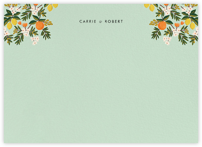 Citrus Orchard Suite (Stationery) - Mint | horizontal