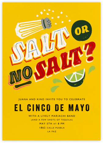 Salt or No Salt? - Paperless Post - Cinco de Mayo Invites