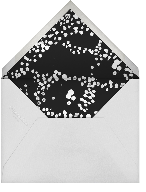 Evoke (Save the Date) - White/Silver - Kelly Wearstler - Save the date - envelope back