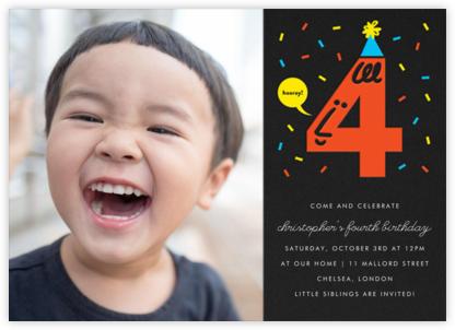 Birthday Faces Photo (Four) - Black - The Indigo Bunting -