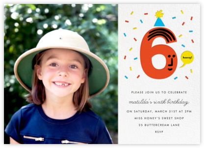 Birthday Faces Photo (Six) - White - The Indigo Bunting - Indigo Bunting