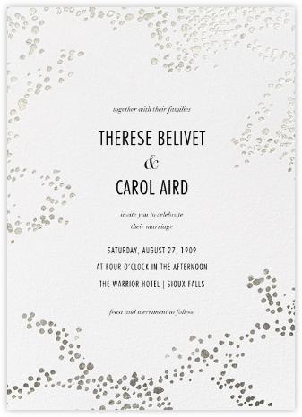 Evoke (Invitation) - White/Silver - Kelly Wearstler - Wedding Invitations