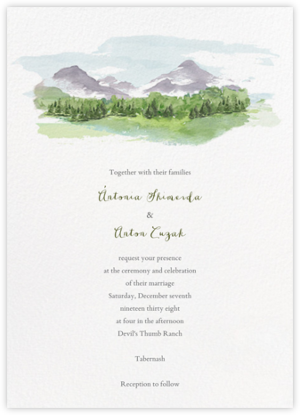 Mountain Scene (Invitation) - Paperless Post - Destination wedding invitations