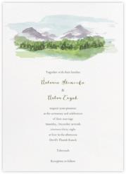 Mountain Scene (Invitation)