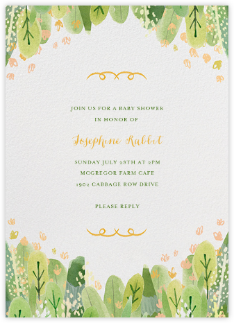 Leaf Hedge - Paperless Post - Baby Shower Invitations