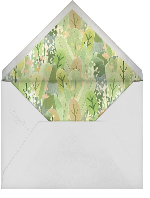 Leaf Hedge - Paperless Post - Baby shower - envelope back